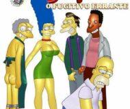 Homer fugitivo errante 1 - quadrinhos simpsons